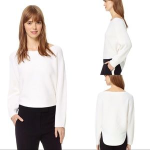 Wilfred White Dolman Sleeve Sweater - XS